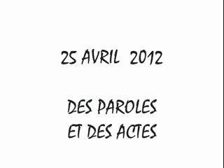 Sarkozy et les ministres FN - Balto 25 avril