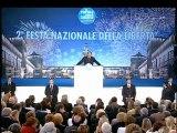 Milano - Berlusconi alla festa del Pdl - La Criminalità organizzata