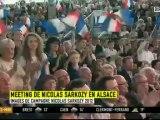"""En Alsace, Nicolas Sarkozy propose un référendum sur la """"règle d'or"""""""
