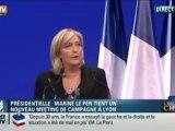 Marine Le Pen, le discours fondateur contre l'Oligarchie, la Banque et la Finance. (Lyon 2012)