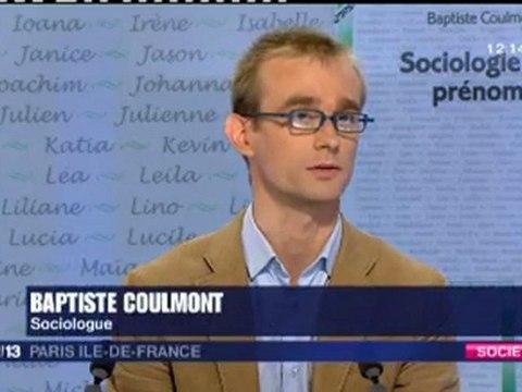 Baptiste Coulmont - Sociologie des prénoms
