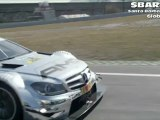 Mercedes-Benz Auto Racing Teams F1 and DTM Duel on Race Track