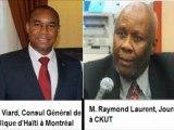 Visite de courtoisie du Consul général, Monsieur Justin VIARD, à Monsieur Raymond Laurent, Animateur depuis 25 ans de l'émission «Midi Inter » à la station de radio communautaire ; CKUT.-