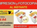 Impresiones A4. Precio de impresiones A4 en Barcelona. Copistería