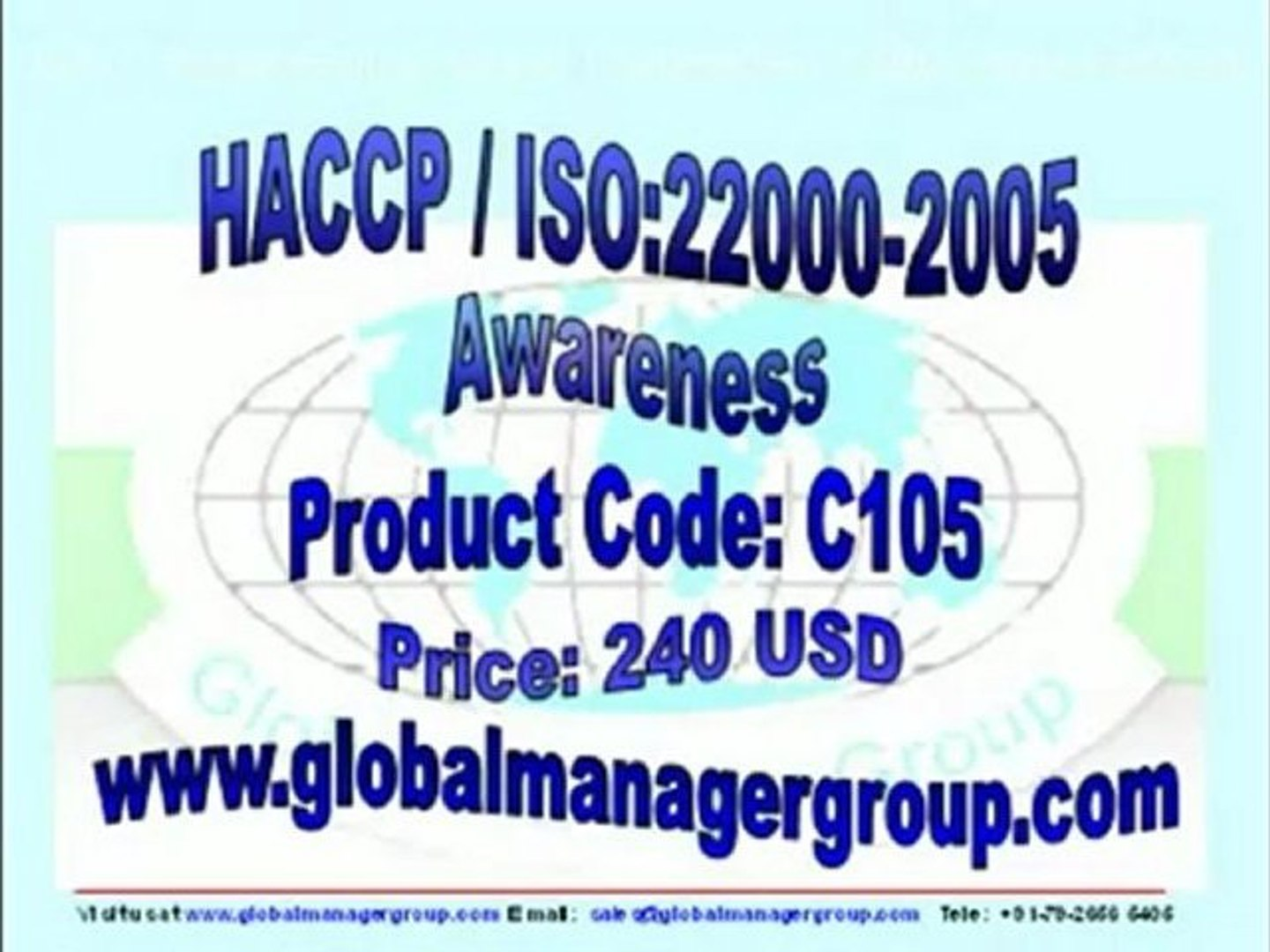 HACCP ISO 22000 Awareness Training