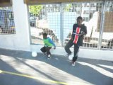 foot freestyle duo las et will prodige team challenge fondation PSG part 3