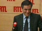 """François Fillon, Premier ministre, lundi sur RTL : """"Evitons les remarques désagréables sur les syndicats"""""""