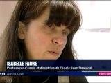 F3 Aquitaine Midi Grève de la Faim de la Directrice de l'école Maternelle de Montignac