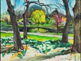 Oil Painting Process - Central Park Reservoir North Woods New York City - Ari Lankin