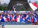 Nicolas Sarkozy qui rassemble à Paris 200.000 personnes en ce 1er Mai d'entre deux tours