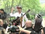 RATM TOM MORELLO LEADS GUITARMY AT OCCUPY WALL STREET MAY DAY MARCH