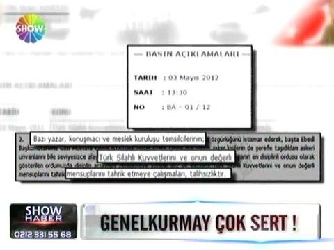 TSK'dan sert açıklama - 03 mayıs 2012