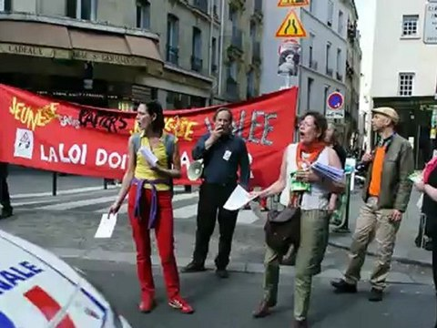 Paris, France, French Trade Unions Demonstrate in Annual May Day March, 2012- 2