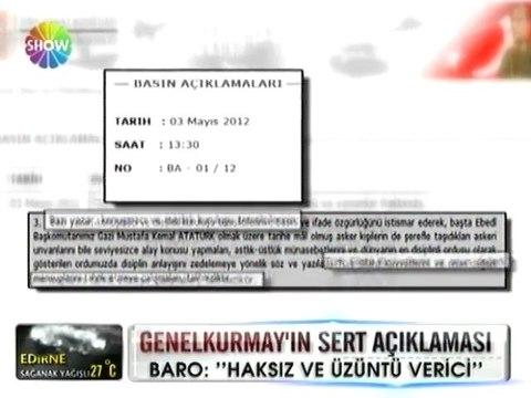 Genelkurmay'dan sert açıklama - 04 mayıs 2012