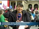Abrogation de la loi sur le harcèlement sexuel : manifestations à Paris