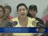 Exigen amnistía general para presos políticos tras declaraciones de Aponte