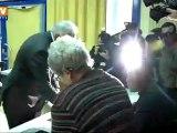 Dominique Strauss-Kahn a voté à Sarcelles dans le Val d'Oise