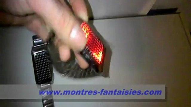 {Montres-Fantaisies.com} - La montres 72 led