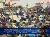 "Capriles: ""Cuando nos quitan recursos, les quitan recursos a la organización comunitaria"""