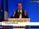 """Hollande : """"Je suis fier d'avoir redonné l'espoir"""""""