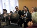 Bergerac : Dominique Rousseau annonce la victoire de François Hollande