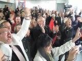 Présidentielles 2012 : La joie des socialistes à Denain après la victoire de François Hollande
