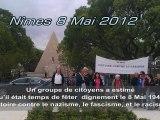 8 mai 1945 Victoire contre le nazisme, le fascisme, et le racisme.  Commémoration  Cérémonie Nîmes gard 2012