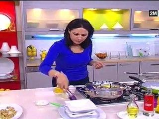 Choumicha - Recette Tajine poulet aux aubergines