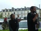 Chaine humaine pour la Réunification - Intervention Jonathan Guillaume, candidat Breizhistance aux législatives dans la circonscription d'Ancenis-Chateaubriand