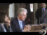 Monti: per 3 anni investimenti fuori da fiscal compact - VideoDoc. La proposta del premier possibile esempio di golden rule