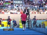 Jo-Wilfried Tsonga gives the point to Ryan Harrison. Madrid 2012