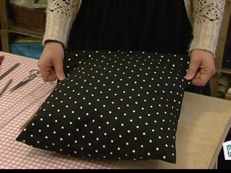 Couture Faire Des Housses De Coussins faire une housse de coussin en portefeuille