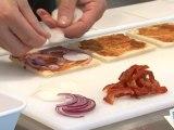 Cuisine : Recette du club sandwich au saumon et tomates confites