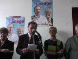Lancement de la campagne législative MichelLesage, candidat des socialistes 10 Mai 2012