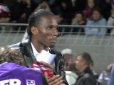 Didier Drogba et Florent Malouda au centenaire d'EAG
