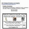 US-Trabajos Empleos Los Angeles - Hoteles - Empleos Domesticos - Carniceros
