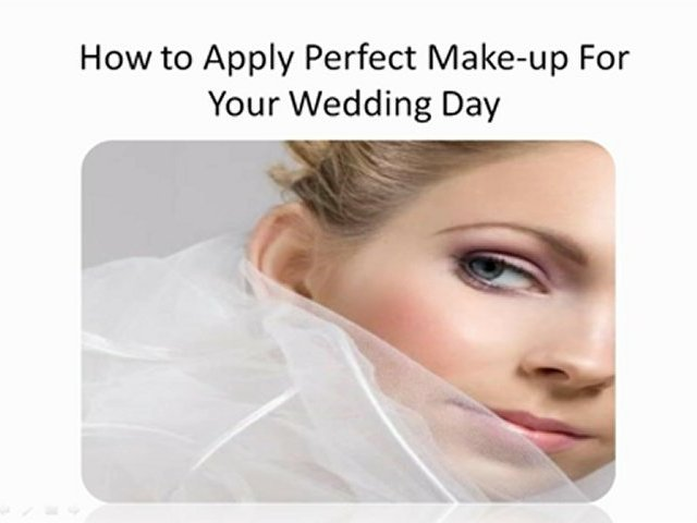 How to Apply Perfect Make-up For Your Wedding
