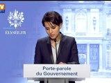 Compte-rendu du premier Conseil des ministres par la porte-parole Najat Vallaud-Belkacem