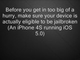 How To Jailbreak iPhone 4S ** Any Firmware Supported!**