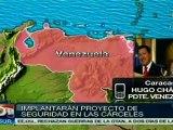 Implementarán proyecto de seguridad en cárceles venezolanas
