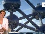 BRUXELLES.   Des funambules sur l'Atomium -19.05.2012