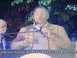 Amministrative Agrigento, comizio finale del candidato a sindaco Totò Pennica News-AgrigentoTV