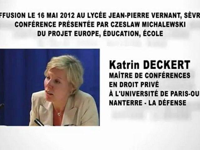 Le contrat, Katrin DECKERT