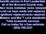 Automotive Locksmith Fort Lauderdale 954-709-2237