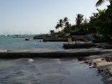 le lagon devant la Villa Carib de Prestige en Guadeloupe