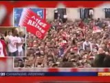 2011 Ligue 2 J38 : Reims Lens, la Parade en ville, le 19 mai 2012