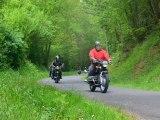 montage photos du départ de la randonnée motos anciennes retro-mobile club drouais 2012