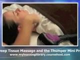 Deep Tissue Massage and the Thumper Mini Pro (Mini Demo)