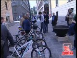 Napoli - Area parcheggio riservata alle biciclette in via Verdi (25.05.12)