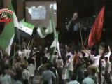 Syria فري برس ريف دمشق  دوما لحظة سقوط القذائف على المسائية 26 5 2012 Damascus